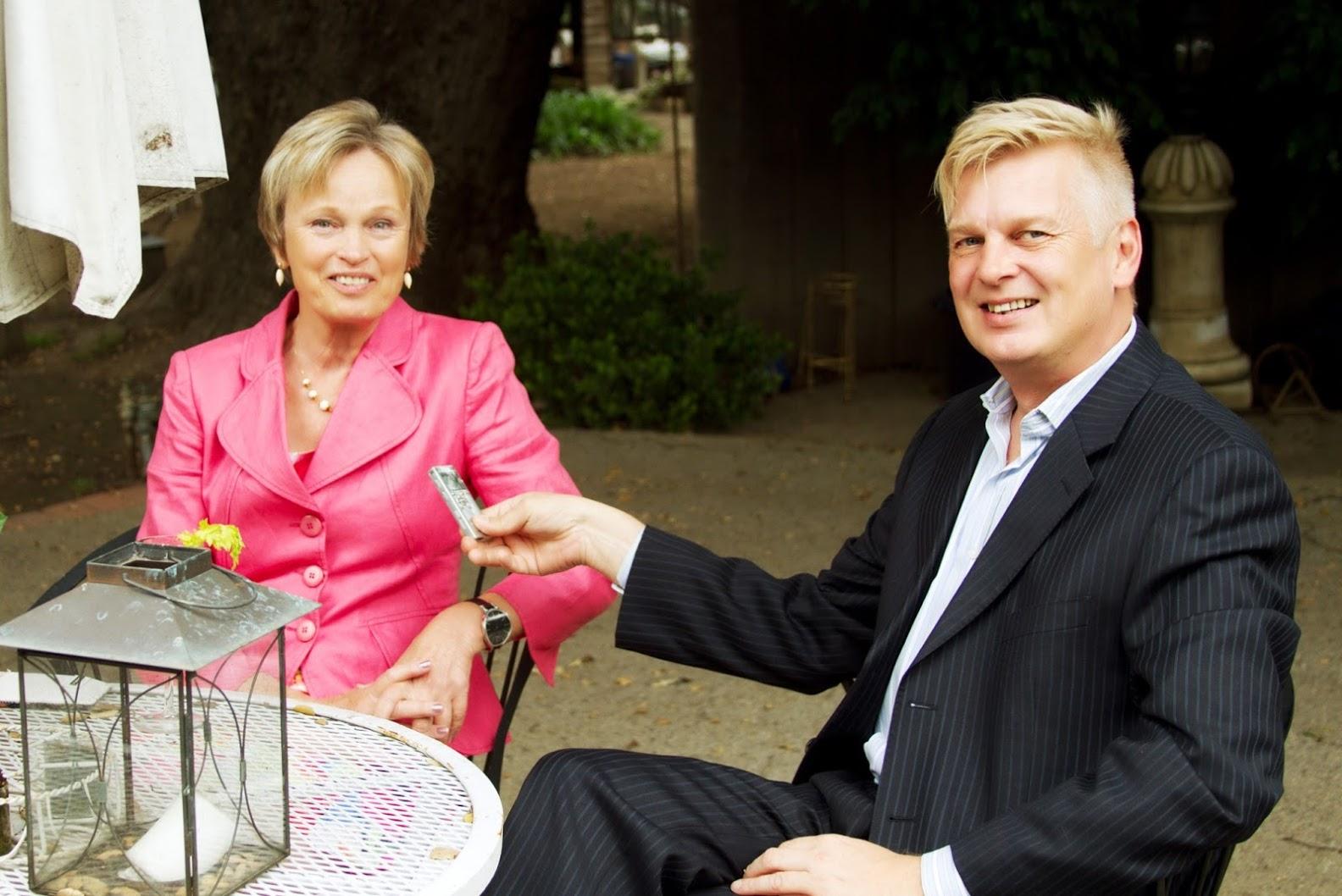 Tomi Hinkkanen and Ambassador Maria Serenius